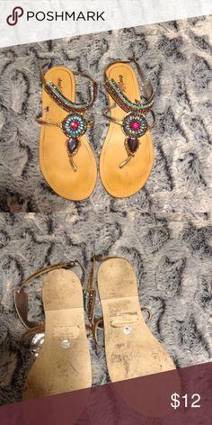 5add0a33d6bc Charlotte Russe Jeweled Flip Flops Sandals 7 NWOT Charlotte Russe Jeweled Flip  Flops Sandals 7 NWOT