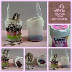 SUPER CLEVER! Crazylou Creations: 10 Ways to Recycle Gum Containers