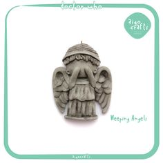 Doctor Who Polymer Clay Weeping Angels Cell Phone Charm – Doctor Who Collection