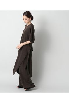 IENA LA BOUCLE ロングスリットワンピース Black And Grey, Normcore, One Piece, Knitting, My Style, How To Wear, Peace, Fashion, Outfits