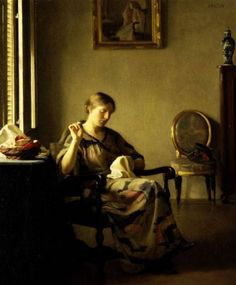 Woman Sewing  William McGregor Paxton, c. 1913