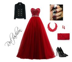"""Red fashion"" by samraaaa51 ❤ liked on Polyvore featuring Yves Saint Laurent, L.K.Bennett, Humble Chic, BaubleBar, polyvoreeditorial and yoinscollection"