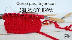 Tejer con AGUJAS CIRCULARES: MONTAR-PUNTO JERSEY CLASE 1
