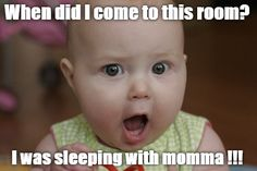 There is no fooling this baby! #parenting #CoolKid #ParentLife #Baby #Meme