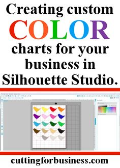 How to create custom color charts in Silhouette Studio (Tutorial)- by cuttingforbusiness.com