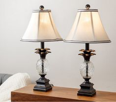 Table Lamps For Living Room Bedroom Set Of 2 Pineapple Elegant Desk Kids Table  #ABBYSONLIVING #AlexandraAntique