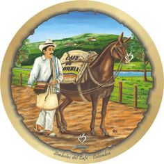 café de colombia Craft Ideas, Stickers, Crafts, Watercolor Painting, Paintings, Canvases, Murals, Souvenir, Manualidades