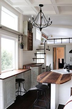 Handcrafted Movement tiny house. Proof tiny houses can be chic an have almost classic lines