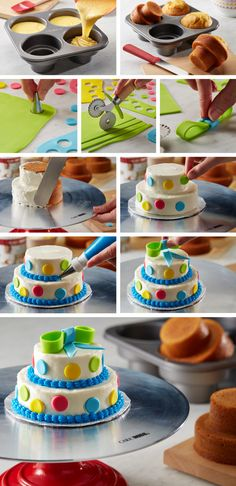 Get family and friends involved with this cake decorating project. Fill the Cake Boss® Tiered Round Cakelette Pan molds 1/2-3/4 of the way full with your favorite cake batter. Bake, frost and decorate as desired! Click on the image to learn more about the Cake Boss® Tiered Round Cakelette Pan available at @Michaels Stores.