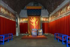 An poster sized print, approx mm) (other products available) - DOVER CASTLE, Kent. Interior view of the King& Hall showing Henry II recreated throne. - Image supplied by Historic England - poster sized print mm) made in the UK Renaissance, Dover Castle, Castles In England, Throne Room, English Heritage, Medieval Castle, Medieval Life, Tower Of London, Richard Iii