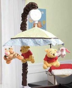 Baby Boy Winnie The Pooh Nursery | Winnie the Pooh and Tigger Neutral Baby Boys/Girls Nursery Crib Mobile