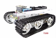 128.88$  Watch now - http://ali6cw.worldwells.pw/go.php?t=32455171953 - ESP8266 tracked robot chassis Tank toy car Wireless WiFi T100 aluminum alloy tank tracked vehicle remote control handset APP