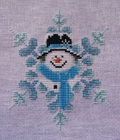 Cross Stitch Design Frosty Blue - Blackberry Lane Designs Cross stitch no pattern just inspiration. Cross Stitch Christmas Ornaments, Xmas Cross Stitch, Cross Stitch Needles, Christmas Embroidery, Christmas Cross, Cross Stitch Charts, Cross Stitch Designs, Cross Stitching, Cross Stitch Embroidery