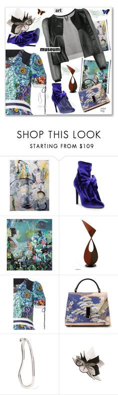 """""""Art Museum"""" by nantucketteabook ❤ liked on Polyvore featuring Paul Frank, NOVICA, Mary Katrantzou, Valextra, Sophie Buhai, Aviù, Fall, art and artmuseum"""