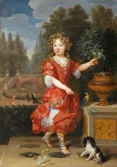 A young Mademoiselle de Blois, Marie-Anne de Bourbon, daughter of Louis XIV and Louise de La Vallière,Pierre Mignard, late 17th century