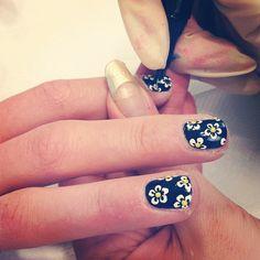 Teen Vogue flower nails.