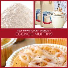Farinha fermentada + gemada = muffins de gemada