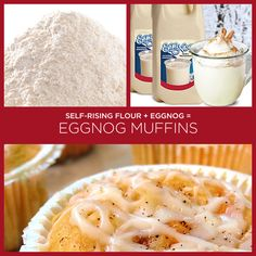 Eggnog Muffins and 33 other insanely simple two-ingredient recipes