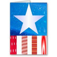 American Flag Greeting Card 1