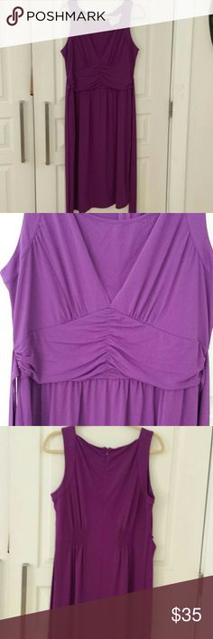 Linea by Louis dell'olio dress This is a really pretty pretty dress by Linea, , 91% polyester 9% spandex this is a lovely purple color faux v-neck ruching under bodice, tie back  Hidden zipper  New never worn Linea by Louis del olio  Dresses
