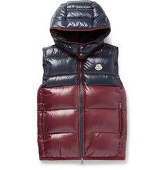 Moncler Balmat Quilted Shell Down Gilet In Navy Cool Jackets, Winter Jackets, Dark Winter, Down Vest, Mr Porter, Moncler, Mens Fashion, Navy, Clothes