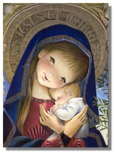 Madonna and Child . Vintage illustration by Juan Ferrandiz. Blessed Mother Mary, Blessed Virgin Mary, Image Jesus, Immaculée Conception, Jesus E Maria, Images Of Mary, Queen Of Heaven, Mama Mary, Mary And Jesus