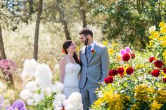 Summer Blooms At A Fireseed Catering Wedding