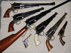Nice Remington collections. The little guns are also Remingtons.