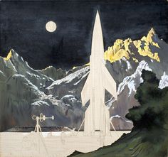 Ship Ready for Return Trip by Chesley Bonestell | by Tom Simpson