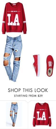 """""""Untitled #2"""" by aliensy ❤ liked on Polyvore featuring Boohoo, WithChic, Vans, women's clothing, women's fashion, women, female, woman, misses and juniors"""