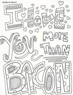 Valentines Day Doodle Art