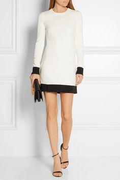 6145622ae TOM FORD - Two-tone stretch-crepe mini dress