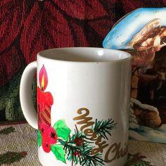 Hand decorated coffee mug