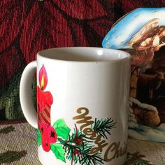 Hand decorated coffee mug