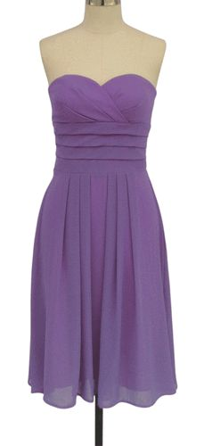 BL136 Violet Light Purple Pleated Bridesmaid Wedding Party Formal Prom Dress XS | eBay