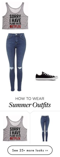"""School"" by natalia1429 on Polyvore featuring Topshop and Converse"