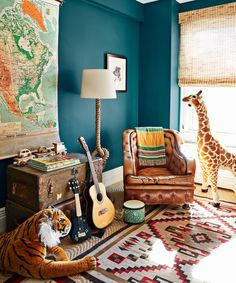 55 Kids' Room Design Ideas - Cool Kids' Bedroom Decor and Style Neutral Nursery Colors, Neutral Paint Colors, Bold Colors, Living Room Toy Storage, Bedroom Storage, Kids Bedroom, Bedroom Decor, Bedroom Ideas, Bedroom Furniture