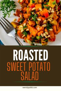 This Roasted Sweet Potato Salad Recipe is packed with ingredients that will leave you feeling great and has flavors that will keep you coming back for more. I like to make this recipe on a lazy Sunday afternoon, so I've got an energizing lunch during the busy work week.