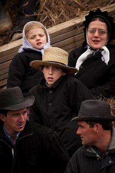 Amish children at the horse auction