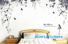 Vinyl Wall Decal Nature Design Tree Wall Decals Wall by WinneDEGIN, $59.00 ~ Living room ideas