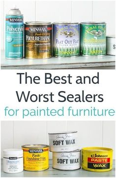 The Best and Worst Sealers for Painted Furniture &; Lovely Etc. The Best and Worst Sealers for Painted Furniture &; Lovely Etc. Norma Terrell summer projects How to choose the […] furniture Chalk Paint Furniture, Furniture Projects, Furniture Makeover, Wood Projects, Wax For Chalk Paint, Sealing Chalk Paint, Waxing Painted Furniture, Chalk Paint Kitchen, Furniture Online