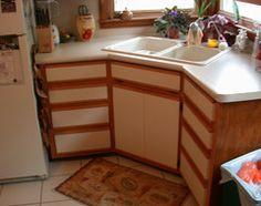 Redo Ugly 80s Oak Trim Laminate Kitchen Cabinets For Under
