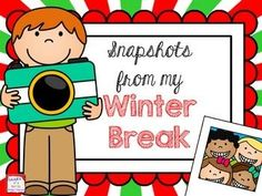 FREE Snapshots from Winter Break craftivity