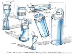 Quick ideation water bottle doodles