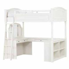 PB Teen full loft bed-vanity and desk! Love!!!!!and I am obsessed with this bed!