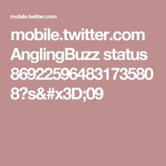 mobile.twitter.com AnglingBuzz status 869225964831735808?s=09