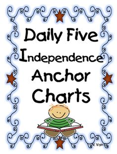 Daily five Anchor Charts...This is great for C.A.F.E. readers (very similar to the F.A.C.E. of a fluent reader)...strategies to help students remember and self-check for fluent reading strategies