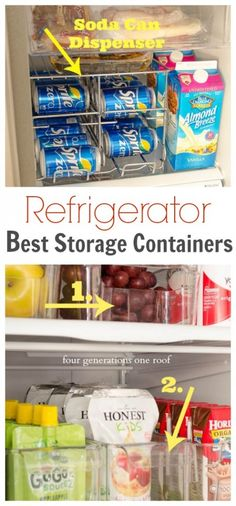 Great ideas to keep your refrigerator organized.