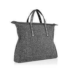 The Jimmy Choo Men's steel grey GABLE tote bag