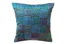 Silk cushion cover weith Kantha emb from Bengal www.miharu.in Sofa Pillows, Cushions, Throw Pillows, Pillow Arrangement, Indian Textiles, Perfect Pillow, Bengal, Cushion Covers, Silk